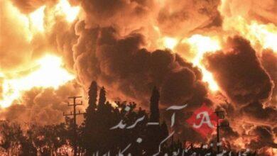 آتش سوزی گسترده در پالایشگاه بزرگ اندونزی